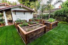 Raised Garden Beds: 7 Backyard Landscaping Ideas to Spice Up a Boring Outdoor Space #DIY