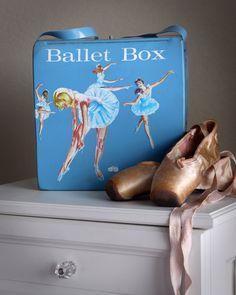 Vintage (1966) ballet shoe box by Mattel.