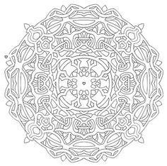 Mandala 584, Mandala Mazes Coloring Book, Dover Publications