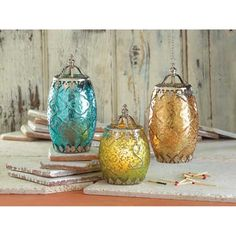 Amber Filigree Candle Lantern [15194] : Moorehouse Treasures, Wholesale Home Decor