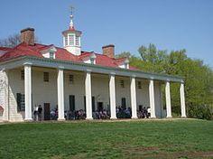 Mount Vernon Estate, Fairfax County Virginia. Plantation home of George Washington.