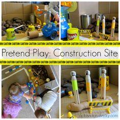 Pretend Play Construction Site {via Octavia and Vicky}