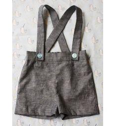 Free pattern: Vintage-inspired baby boy suspender shorts