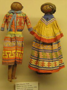 saw palm Seminole dolls