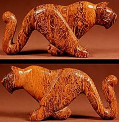 Ernie Mackel  | Vietnamese Jasper  | Running Mountain Lion  | Price: $95. + shipping | Texas sales tax applies to Texas Residents! | CLICK  IMAGE for more views & information. | Authentic Zuni fetishes direct from Zuni Pueblo to YOU from Zunispirits.com!