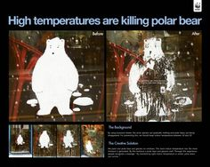 "WWF: ""High temperatures are killing polar bear"" Ambient Advert by Ias B2b Marketing"