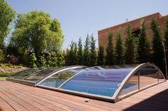 Descubre la cubierta de piscina Cristal #pool #piscina #piscinadecristal #design