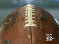 The football, now on temporary display at Heinz History Center, took the luckiest bounce in Pittsburgh Steelers history, when Franco Harris caught that glorious ricochet, on Dec. 23, 1972. But the man who later scooped it up never saw the play that made it famous.