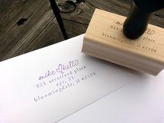 Personalized Wedding Address Stamp. $25.00, via Etsy.
