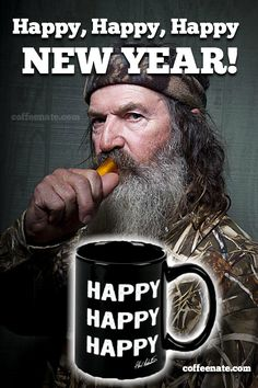 Happy, Happy, Happy New Year!   I resolve to drink more #coffee, in 2013! #DuckDynasty