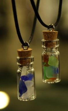 Genuine Beach Glass Jewelry. Cute idea if I ever go to the beach in my life