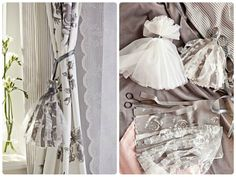 DIY with IKEA - Create elegant curtain ties with leftover fabric. Learn how on the Design By IKEA blog!