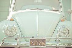 Lime Volkswagen Beetle