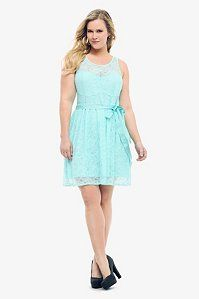 $68.50 Mint Allover Lace Tank Dress | Dresses