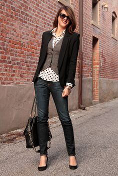 Cute Casual Friday Menswear type Fall outfit