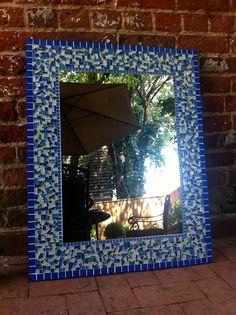 Mosaic Wall Mirror Large Mirrors Custom Made by GreenStreetMosaics, $75.00