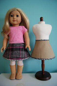 18-Inch Doll Reversible Skirt