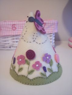 Felt party hat... Could be a princess cone hat with the right fabric