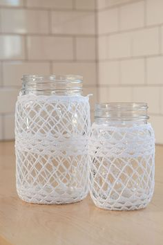 Crocheted Ball Jar Cozies from Classic Kitchen Crochet
