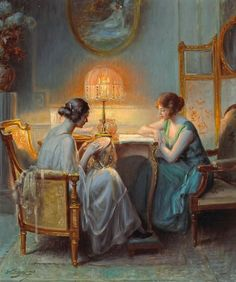 Le boudoir - Delphin Enjolras (French, 1857-1945). Oil on canvas. ..