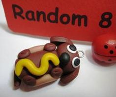 cute clay charms, cake decorations, clay dogs, polym clay, weiner dogs, wiener dogs, clay idea, polymer clay cute charms, hot dogs