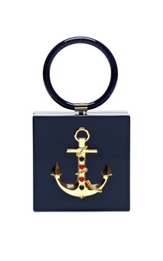 Cast Away Perspex Clutch by Charlotte Olympia