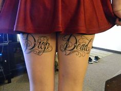 Upper Back Thigh Tattoos