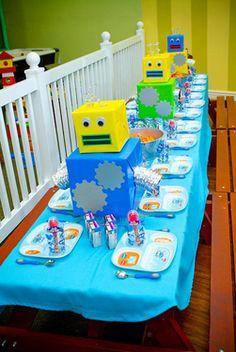 super cute robot party
