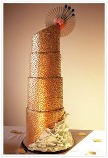 (Trend) Gold Wedding Cakes