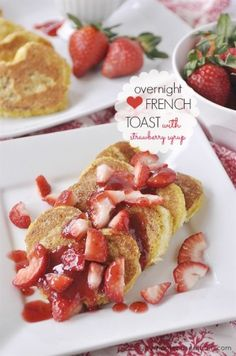 Overnight Heart Shaped French Toast - your homebased mom