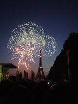 Bastille Day Eiffel Tower fireworks