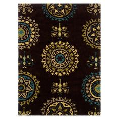 Suzani Rug in Brown