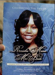 RENISHA MCBRIDE'S KILLER TO FACE MURDER TRIAL