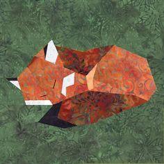 Fox paper pieced block