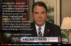 Walmart should not be getting aid from our government !  Vote Blue...Vote Democrat