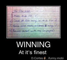 Winning, At its Finest