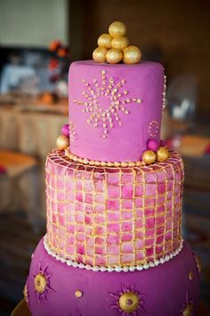 An exotic purple wedding cake | Jenny's Wedding Cakes | Brides.com