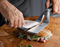 Cool spatula to help you cut paninis, or any sandwich!  From Williams Sonoma