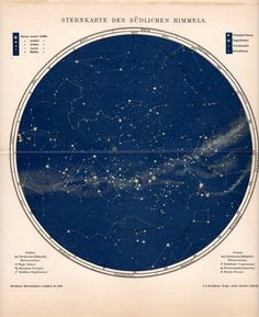 || antique celestial print.