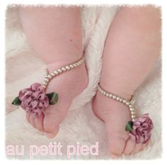 Baby barefoot sandals baby shoes baby jewelry infant girls baby shower gift  on Etsy, $22.00