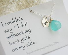 Set of 6,Bridesmaid cards with necklace,Bridesmaid thank you cards,Wedding invitation,Be my bridesmaid,Maid of honor,Wedding party favor