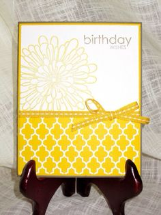 Happy Birthday marigold handmade card