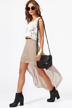 Get Down Skirt in Taupe
