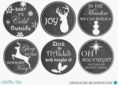 ARTSEA CHIC Printables | FREE 32oz. Holiday Mason Jar Wide Lid Labels {click through for link to download}