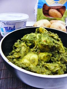 Tinned Tomatoes: Saag Aloo (spinach and potato side dish)