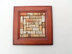 Wine Cork Bulletin Board  reclaimed wood  by TheWoodenBee on Etsy