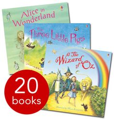 With contemporary and humorous takes on 20 famous children's stories, The Usborne Picture Book Gift Set is the perfect gift for any child who is hooked on reading!