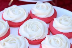 Winter Rose Sugar Cookies with Buttercream by SweetOnHearts, $20.00