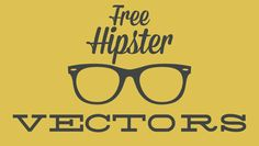10 Free Hipster Vectors...these are fun!  Create graphics for your blog or handmade projects!  #diy #blogging #graphics
