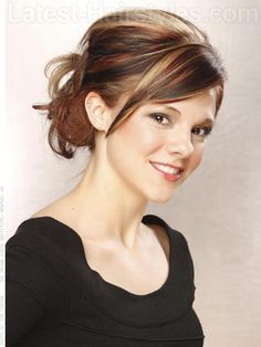 Dark Light and Everything In Between Updo with Highlights